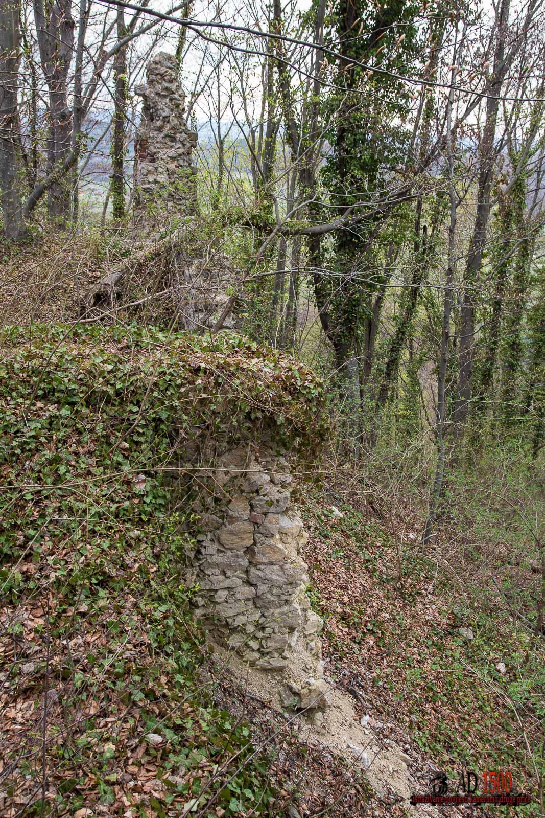 Pogled na ostatke sjevernog zida s istoka